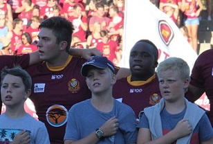 Fans and players enjoy FNB Maties' first home game