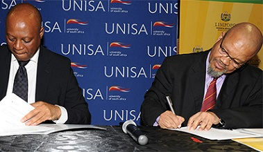 Unisa and Limpopo Province sign MoU
