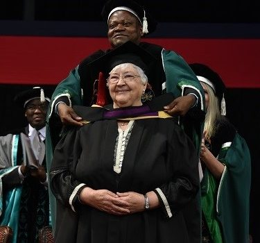 Hanneke Meyer obtains master's with distinction at 75