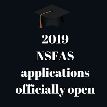All systems go for NSFAS 2019 applications