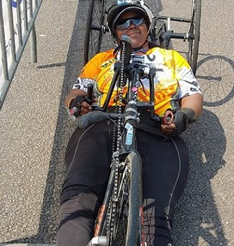 University of Johannesburg student scales handcycling heights