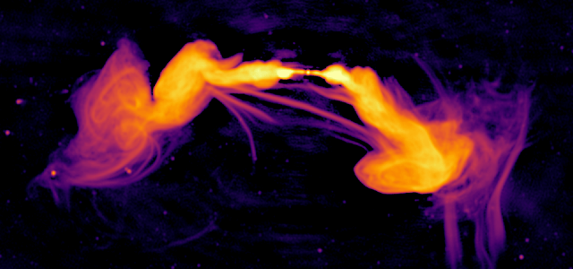 Astronomers stumble upon unexpected features in a distant galaxy