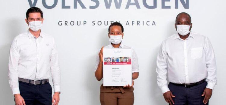 VWSA's Rachel Kobo named Best Apprentice for 2020