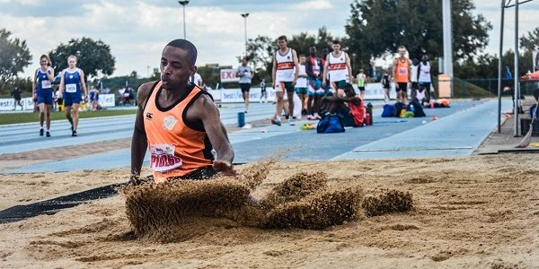 Long jumper Cheswill Johnson leaps into the 2021 Tokyo Olympic Games