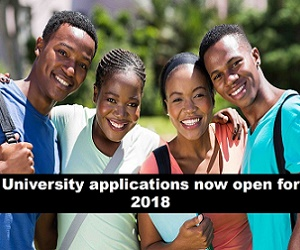 Click here for list of open university applications for 2018